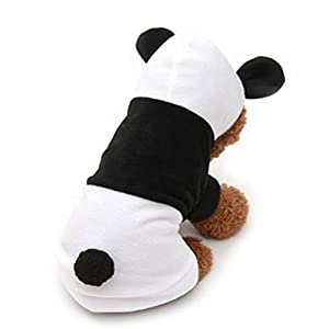 UEETEK Dog Clothes Pet Dog Panda Clothes Puppy Hoodie Coat Dog Cat Outwear Apparel Costume