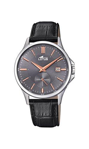 Lotus Watches Reloj Análogo clásico para Hombre de Cuarzo con Correa en Cuero 18424/3