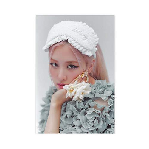 Kpop Poster Blackpink Rose 5 - Póster de lienzo para pared (30 x 45 cm)