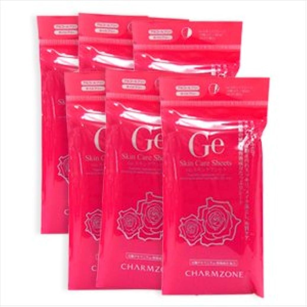 意志介入する不規則なチャームゾーン Geスキンケアシート 10枚入 (香り:ローズ, 6個セット)