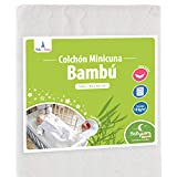 Babysom - Colchón Minicuna bebé - 90 x 40 cm - Funda de Bambú - Transpirable...
