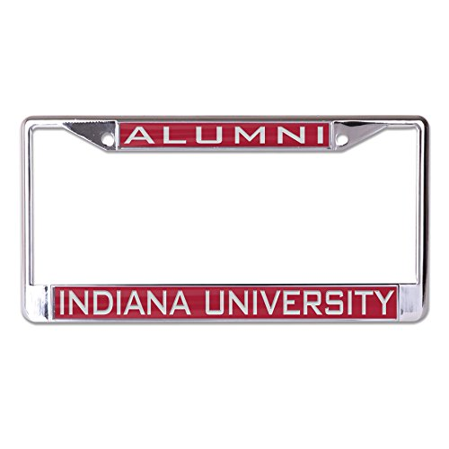 Wincraft NCAA Indiana Hoosiers Alumni Inlaid Metal License Plate Frame, 2-Tag Corners