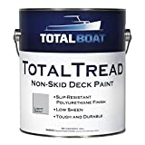 TotalBoat TotalTread Non-Skid Deck Paint, Marine-Grade Anti-Slip Traction Coating for Boats, Wood, Fiberglass, Aluminum, and Metals (Light Gray, Gallon)