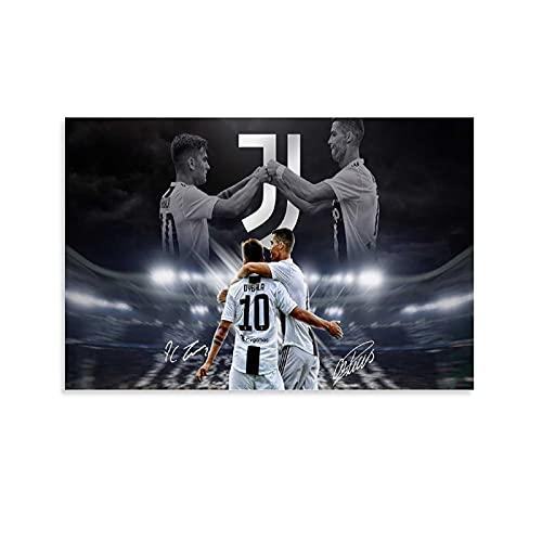 BGTS Póster de Cristiano Ronaldo y Paulo Dybala, cuadro decorativo, lienzo para pared, salón, dormitorio, 30 x 45 cm