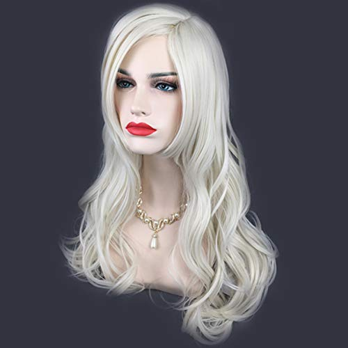 GUOYUN 25.5 Inch Curly Wigs for Women Glueless Shoulder Length Hair Wigs for Cosplay Fancy Dress and Party Events