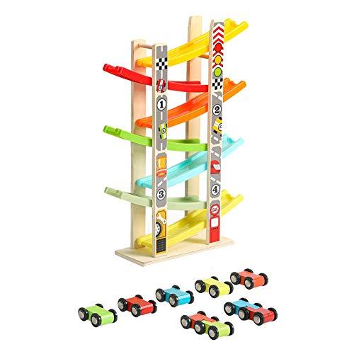 WFF Spielzeug Kinder-Multi-Layer-Spur-Spielzeugauto Auto pädagogischen Spielzeug Junge Rennen Spielzeug Fliegen, Verwenden Trägheitsrennsegler Spielzeug Glide Spur (Color : 2pieces)