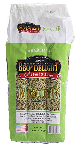 BBQR's Delight Mesquite Wood Smoker Pellets 10 Pound Bag -All Types of Smokers or Grills