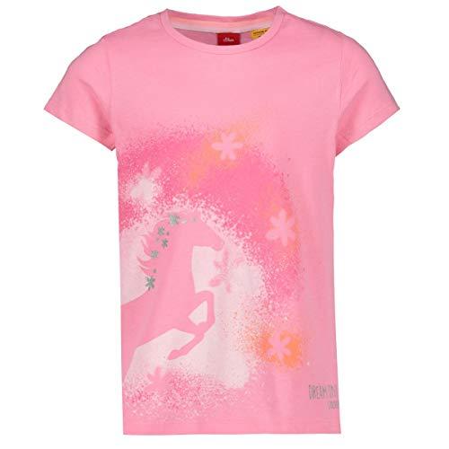 s.Oliver Junior Mädchen 403.10.004.12.130.2038168 T-Shirt, 4404 pink, 116/122/REG
