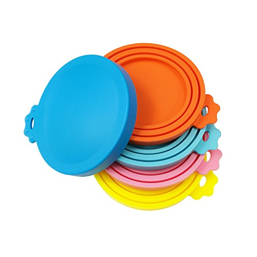 Buy Discount SACRONS-Can Covers/5 Pack/Universal Silicone Can Lids for Pet Food Cans/Fits Most Standard Size Dog and Cat Can Tops/100% FDA Certified Food Grade Silicone & BPA Free
