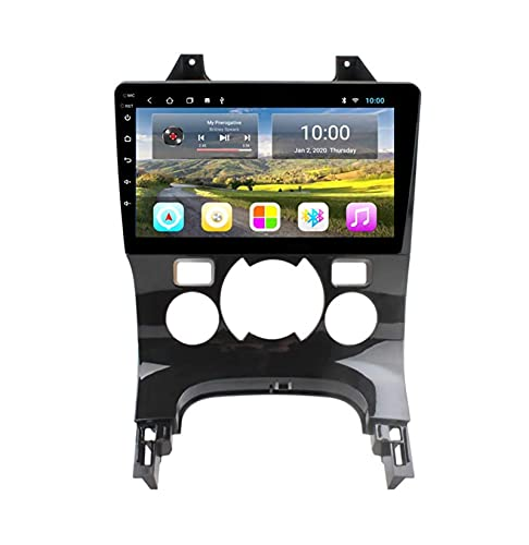 NAV Stereo Navigatore Satellitare Car Android di GPS Radio Autoradio Navigation Player - Applicabile per Peugeot 3008 2009-2012, 9 Pollici multimediale Touchscreen con WiFi luetooth USB