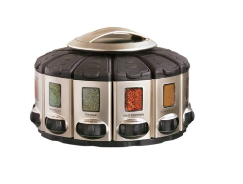 KitchenArt Pro Auto-Measure Spice Carousel, Stainless Steel...