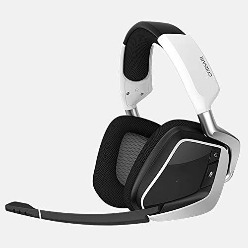 DHINGM Casque de Jeu sans Fil, Casque PS4, 7.1 Dolby Casque stéréo, récepteur USB sans Fil, PS4 Casque avec Microphone (Color : White)