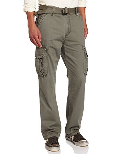 Unionbay Men's Survivor Iv Relaxed Fit Cargo Pant - Reg and Big and Tall Sizes, Leaf, 34x32