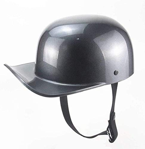QDY Vintage Open Face Motorcycle Helmet, Baseball Cap Motorbike/Scooter Crash Half Helmet Cruiser Chopper Jet Classic Open Face Helmet for Adult Men and Women Dot/ECE Approved