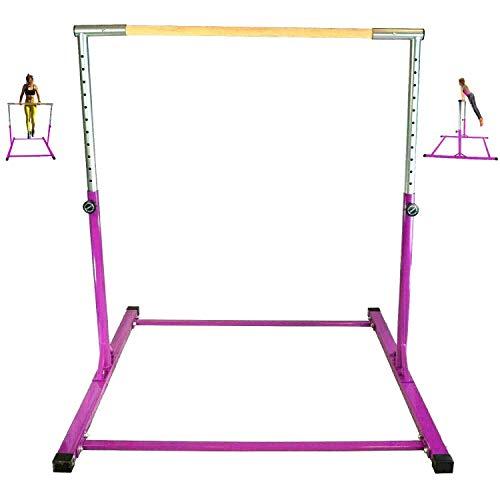GymPros Purple Horizontal Kip Bar Jungle Gym Monkey Bar Adjustable Gymnastics Pro Training Junior Kip Bar Kids Home Gym Pull Up Playground