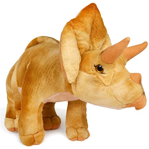 Treiger The Triceratops   13.5 Inch Stuffed Animal Plush Dinosaur   by Tiger Tale Toys -  VIAHART, 850000897267