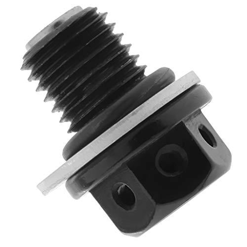 Gazechimp Magnet Motorölwanne Ablassschraube + Dichtung für Auto M12 x 1,5 aus Metall - Schwarz