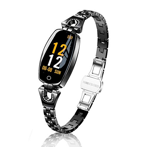 TMYIOYC Fitness Tracker, Fitness Watches for Women, Digital Watch with Heart Rate, Blood Pressure, Pedometer, Message Notification, Workout Activity Tracker, Sleep Monitor Wellness Watch