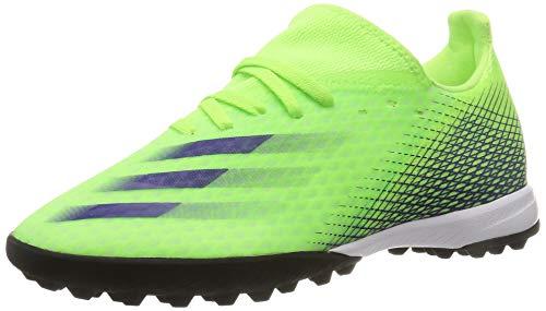 adidas X GHOSTED.3 TF, Zapatillas de fútbol para Hombre, Signal Green Energy Ink F17 Signal Green, 48 2/3 EU