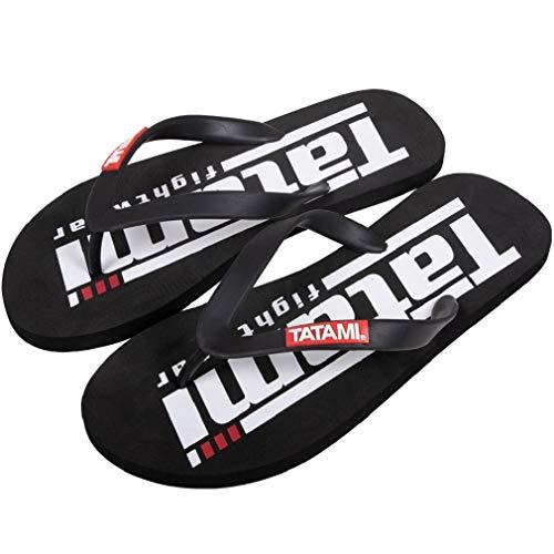 Tatami Fightwear Zehentrenner Black Edition - Badeschuhe Badeschlappen Badelatschen Duschschuhe Strandschuhe Mattenschuhe für Herren (42)