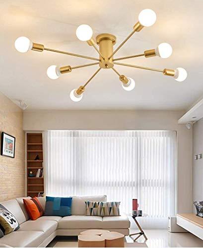 Candelabro moderno con acabado dorado, luz de techo molecular creativa, lámpara colgante de globo, accesorio de iluminación regulable para sala de estar, comedor, 8 luces