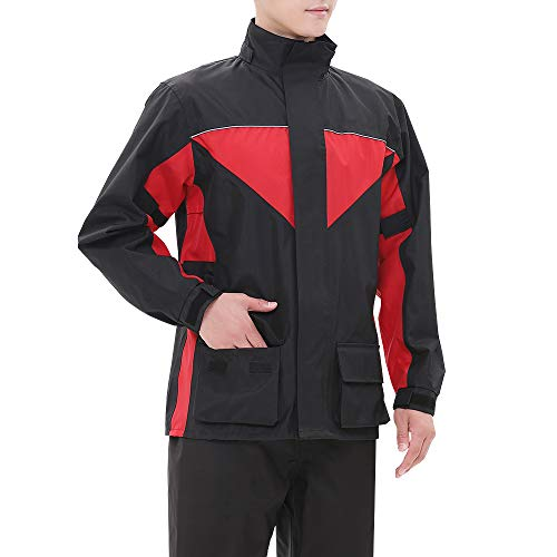 iCreek Motorcycle Rain Suit Outdoor Waterproof Anti-storm Raincoat Suit High Visibility,XL Alabama
