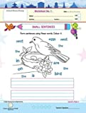 Purple Turtle Worksheets Combo for UKG - English, Maths & EVS - 100 Worksheets (100 pages- 50 leafs)