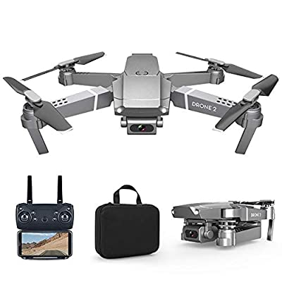 HilMe FPV WiFi Drone with 720P/1080P/4K Camera Live Video 4CH 6-Axis Gyroscope Rechargeable Folding RC Drone Quadcopter,Gesture Control, Altitude Hold,Headless Mode