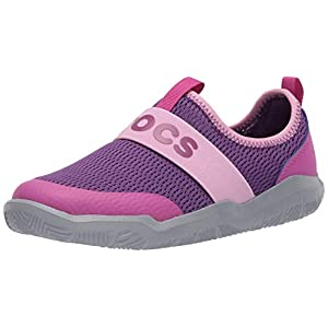 Crocs Unisex-Child Swiftwater Easy-on Logo Slip on Shoes for Boys and Girls Sneaker