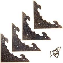 4 stuks antieke hoeken decoratie hoek beugel antieke sieraden houten doos voet been hoekbeschermer ambachten decoratieve h...