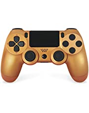 PS4ワイヤレスゲームパッドコントローラー、Playstation 4ゲームパッドジョイスティック、デュアルバイブレーションとオーディオを備えたタッチパネルコントローラー,ブロンズ