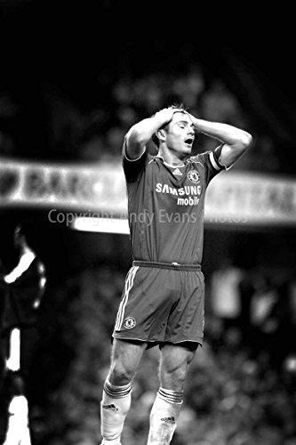 """Price comparison product image Frank Lampard Photograph an 8""""x12"""" Photographic Print of Frank Lampard playing for Chelsea FC at Stamford Bridge portrait photo b / w picture fine art print photography by Andy Evans Photos"""