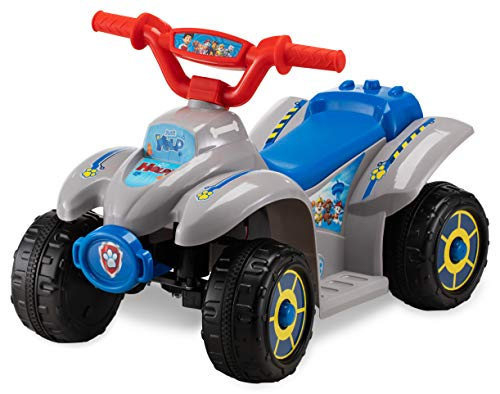 Kid Trax Nickelodeon's Paw Patrol Toddler Quad Electric Ride On Toy, 18-30 Months, 6 Volt, Max Weight 44 lbs, Blue/Grey