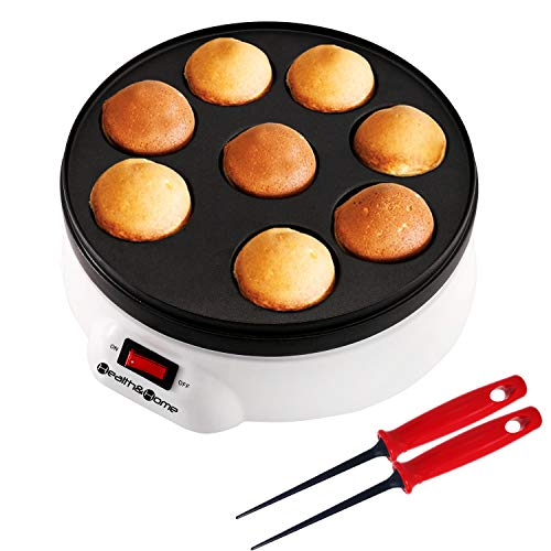 Health and Home Electric Japanese Takoyaki Octopus Pan 8- Balls Maker Danish Aebleskiver and Ebelskiver Maker, Cake Pops Maker With Nonstick Coating,Easy Clean