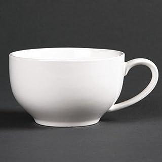 Tasses 228ml Rondes Basses Lumina - Boite de 6 - Porcelaine22,8 cl