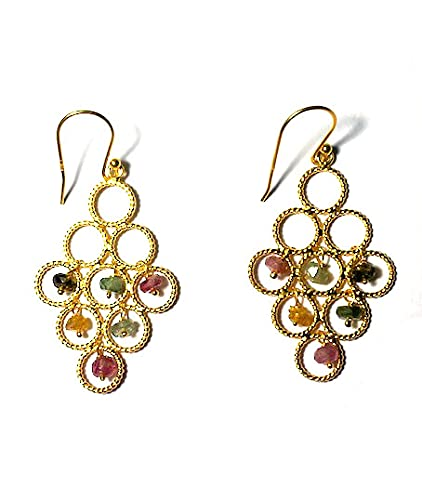 Pendiente de zafiro arcoíris de plata de ley 925 auténtico regalo para ella Ravaria Jewelry