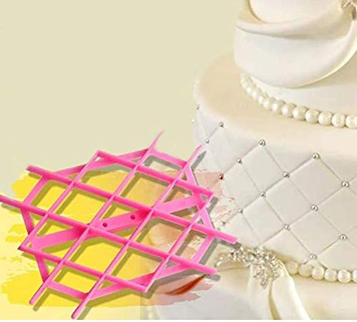 Fondant Embosser Flower Cookie Cutters Diamond,Sugar Craft Cake Decorate...