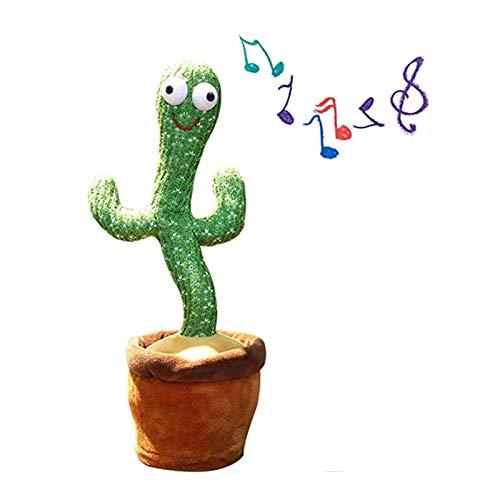 WENLIANG Cactus De Baile De Peluche De Juguete, ElectróNico Tembloroso De Baile DecoracióN De Cactus Juguetes,Educativos De La Primera Infancia Juguetes De Peluche con CancióN A