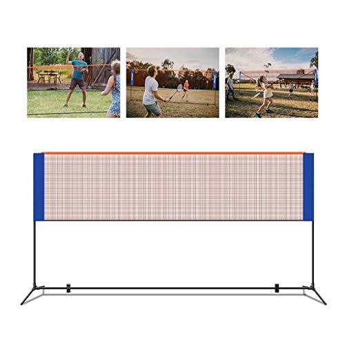 Wp-aqm 4.2m im Freien beweglichen Faltbare Badminton Tennisnetz Adjustable Volleyball-Netz mit Standmasten, Außen einfaches Falten Badminton-Netz (Size : 4.2m)