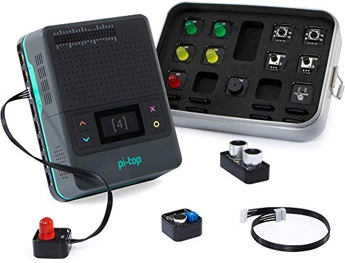 Pi-Top PT4-GY-0A Raspberry PI 4 e Foundation Kit con Piu di 100 Ore di Coding Projects, Stem Learning, Compatibile Lego
