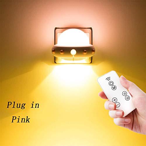 Afstandsbediening nacht gloeilamp met schakelstopcontact stekker super heldere tafellamp slaapkamer nacht plug-in verzorging voeding spaarlamp muur
