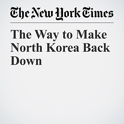 The Way to Make North Korea Back Down copertina