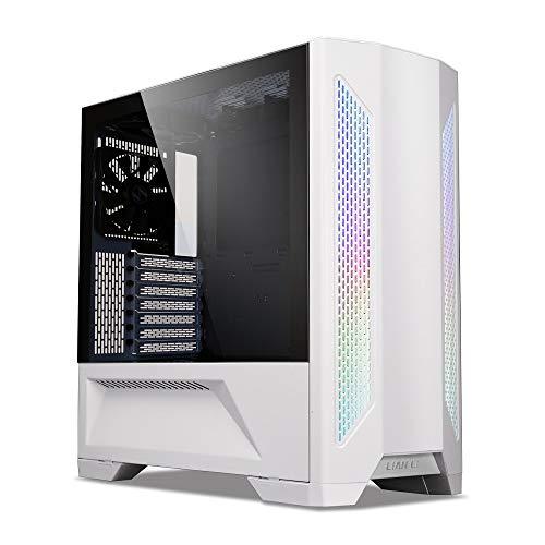 Lian Li LANCOOLII-W Midi-Tower Gaming-Gehaeuse Weiß 3 vorinstallierte Luefter, Integrierte Beleuchtu