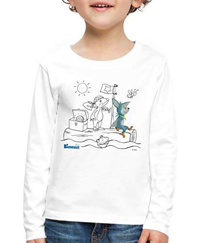KiKA-Baumhaus Mit Fidi Motiv Zum Ausmalen Kinder Premium Langarmshirt, 134-140, Weiß