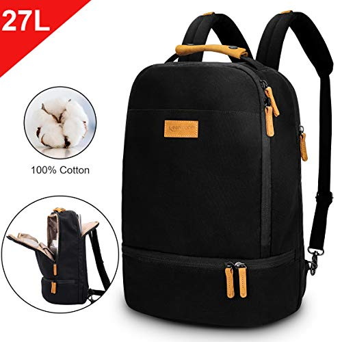 Keenston Laptop Rucksack 15,6 Zoll Baumwoll Schulrucksack Wasserabweisenden Multifunktionsrucksack...