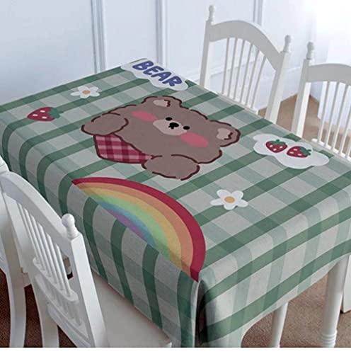 Nappe imperméable Nappe rectangulaire Nappe Table à Manger Couverture cheminée comptoir-S4 140X220Cm