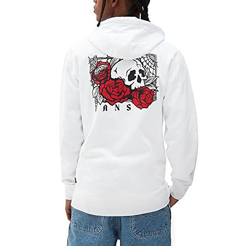 Vans Sudadera de hombre con capucha Rose Bed Blanca Cód. VN0A54AKWHT Color blanco. S