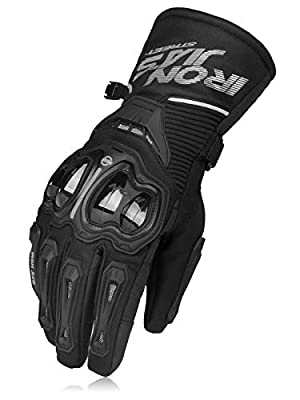 Motorcycle Gloves Winter Warm Waterproof Windproof Protective Clothing Touch Screen XXL Black by IRON JIA'S