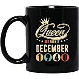 Queen Are Born In December 1940 Coffee Mug Retro Vintage 78th Birthday Gifts 78 Years Old Decorations