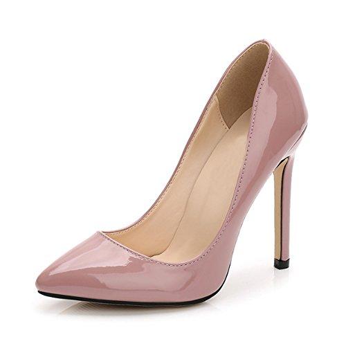OCHENTA Damen Pumps Sexy Stiletto High Heels Klub Modisch Ohne Verschluss Kleidschuhe #11 Nude Pink Asiatisch 40/ EU 39
